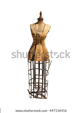 Seamstress Model- Antique damaged Dress Form