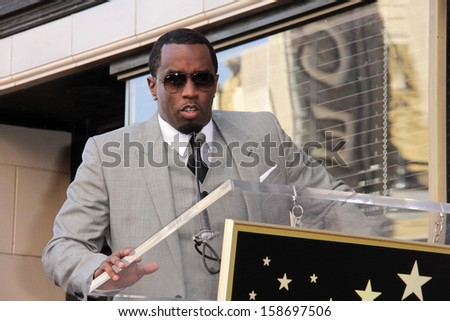 "Sean Combs at the Kenny ""Babyface"" Edmonds Honored Star on the Hollywood Walk Of Fame, Hollywood, CA 10-10-13"