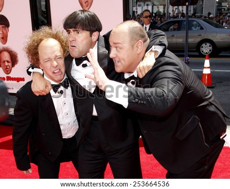 "Sean Hayes, Chris Diamantopoulos, and Will Sasso at the World Premiere of ""The Three Stooges: The Movie"" held at the Grauman's Chinese Theater in Los Angeles, USA on April 7, 2012."