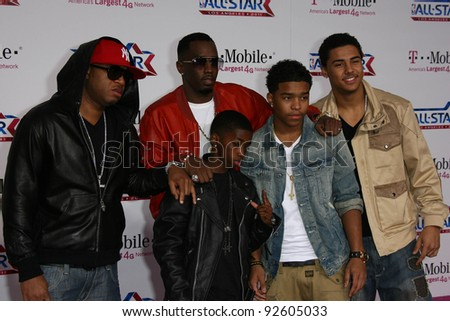 Sean 'P Diddy' Combs and Family at the 2011 T-Mobile NBA All-Star Game, Staples Center, Los Angeles, CA 02-20-11 - stock photo