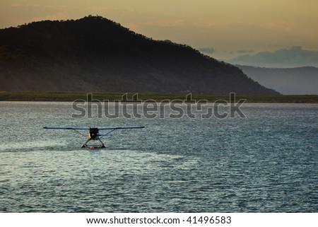 Seaplane in Cairns, Australia Harbor - stock photo