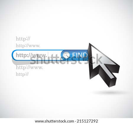search bar illustration design over a white background - stock photo
