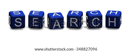 Search blue concept text on white background - stock photo