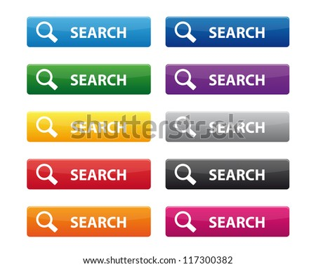 Search buttons. Vector available. - stock photo