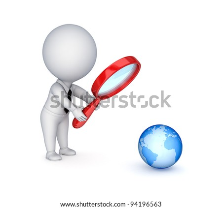 Search concept.Isolated on white background.3d rendered.