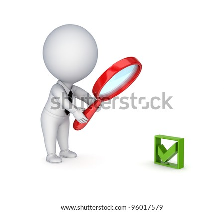 Search concept.Isolated on white background.3d rendered. - stock photo