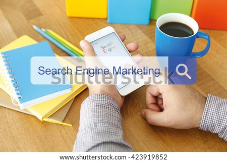 Search Engine Marketing Concept - stock photo