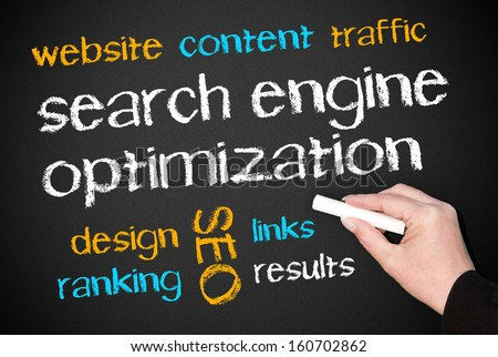Search Engine Optimization - SEO - stock photo