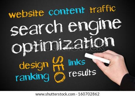 Search Engine Optimization - SEO - stock photo
