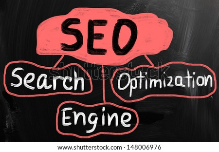 Search engine optimization ( SEO ) concept - stock photo