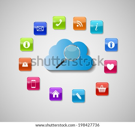 Search Engines Optimization Concept  Illustration. - stock photo