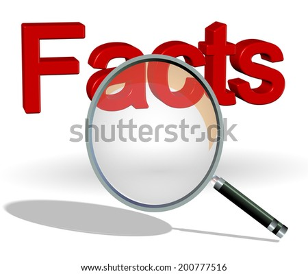search facts - stock photo