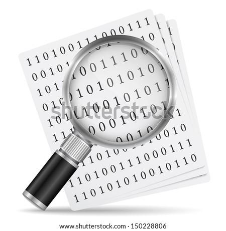 Search file icon - stock photo