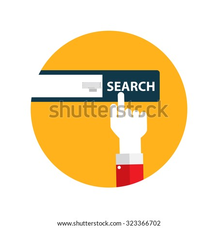 Search Flat Design Concept. Illustration Isolated on White Background