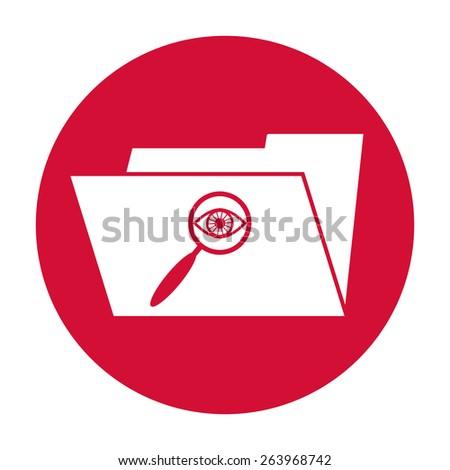 Search Folder Icon - stock photo