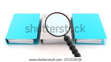 Search folders for documents - stock photo