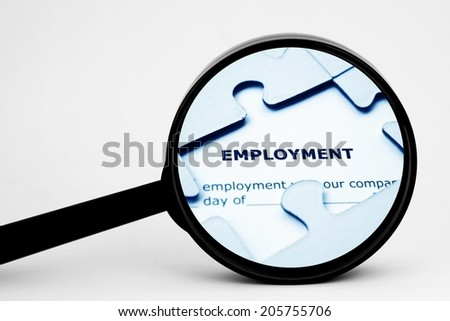 Search for employment - stock photo
