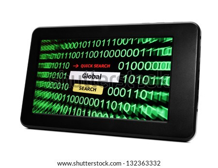 Search for global - stock photo