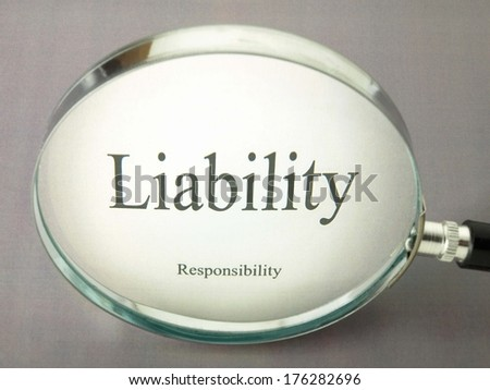 Search for liability - stock photo