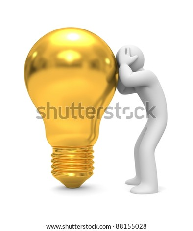 Search for new ideas. Image contain clipping path - stock photo