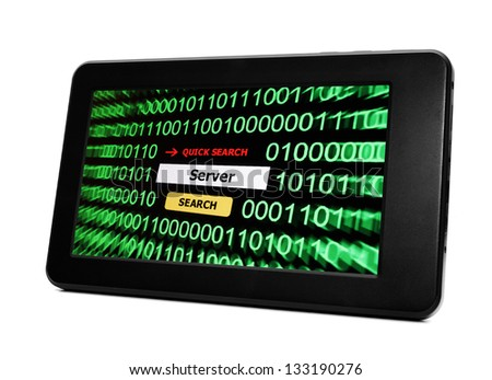 Search for server - stock photo