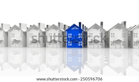 search for suitable housing - stock photo