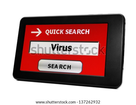 Search for Virus - stock photo