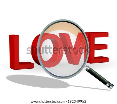 search love- dating - zoom len - stock photo