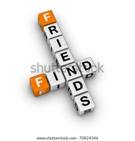 search new friend (3D crossword orange series)
