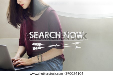 Search Now Searching Looking For Information Concept