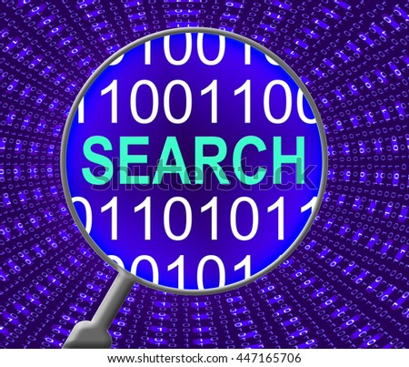 Search Online Representing Web Site And Find - stock photo