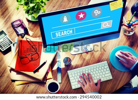 Search Searching Seo Online Internet Browsing Web Concept - stock photo