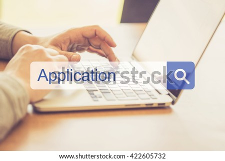 SEARCH WEBSITE INTERNET SEARCHING APPLICATION CONCEPT - stock photo