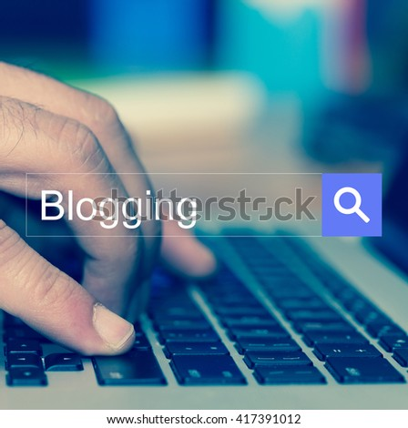 SEARCH WEBSITE INTERNET SEARCHING Blogging CONCEPT - stock photo