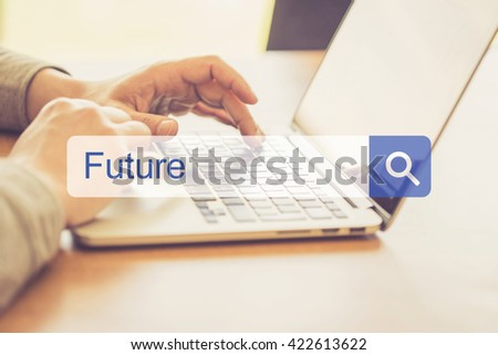 SEARCH WEBSITE INTERNET SEARCHING FUTURE CONCEPT - stock photo