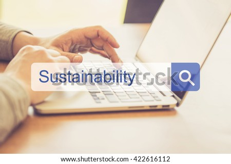 SEARCH WEBSITE INTERNET SEARCHING SUSTAINABILITY CONCEPT - stock photo