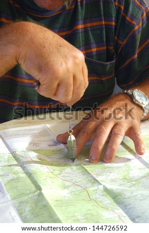 Searches on a chart - stock photo