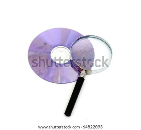 searching digital data concept isolated on white - stock photo