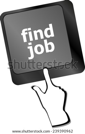 Searching for job on the internet. Jobs button on computer keyboard - stock photo