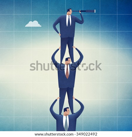 Searching for opportunities. Concept business illustration - stock photo