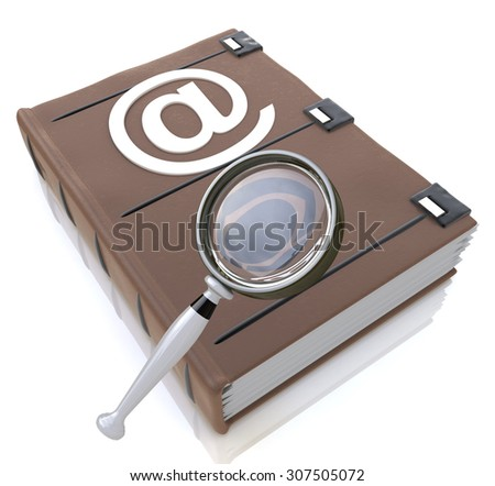Searching the address book  - stock photo