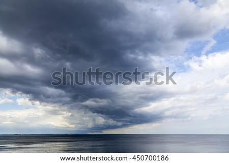 Seascape at the Baltic Sea - stock photo
