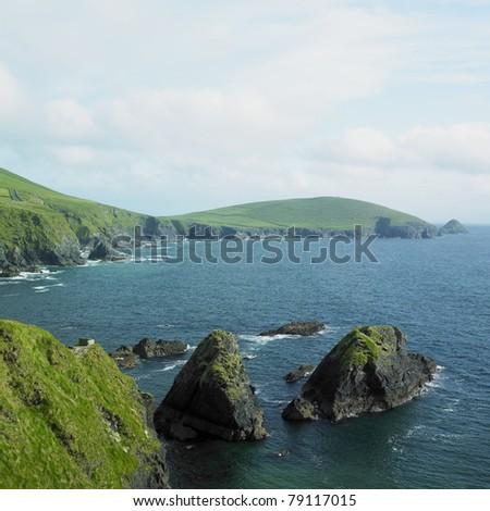 seascape, County Kerry, Ireland - stock photo
