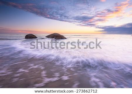 Seascape from coastal South Australia - stock photo