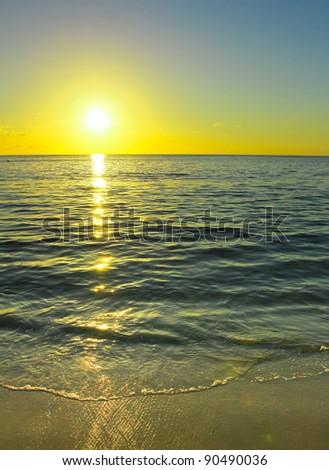 Seascape Horizon Evening - stock photo