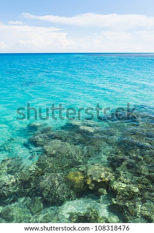 Seascape In A Blue Heaven - stock photo
