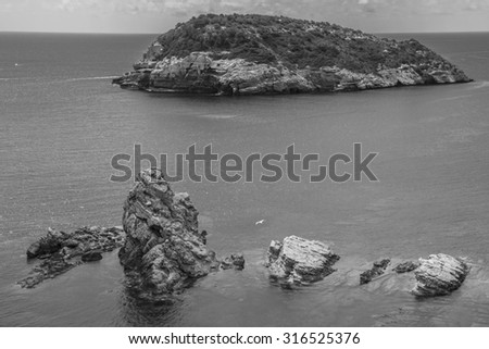 seascape in the Spanish Mediterranean coast