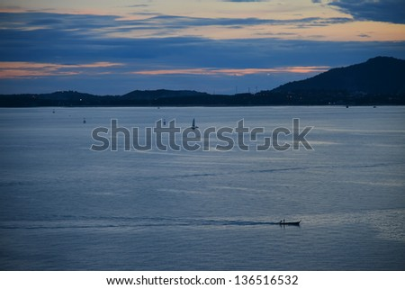 seascape in twilight, phuket Thailand