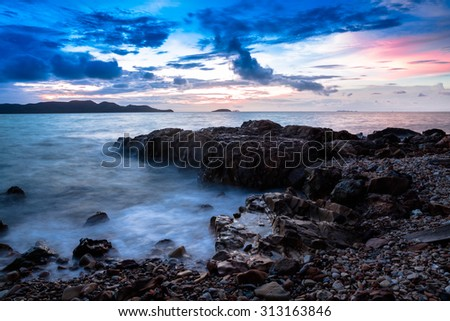Seascape in twilight time
