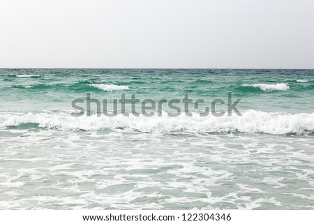 Seascape with flow - stock photo